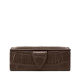 Leather Wilde Mini Cufflink Box