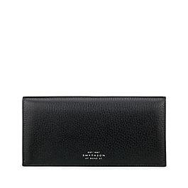 Schmale Mantel-Brieftasche mit Reißverschlussfach aus Leder
