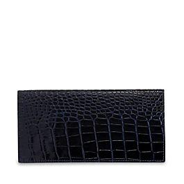 Schmale Mantel-Brieftasche aus Leder