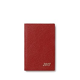 Leather 2017 Wafer Agenda with bound in Address Book