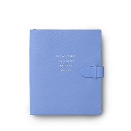 Leather New York, London, Milan, Paris Premier Notebook