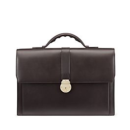 Leather Slim Briefcase