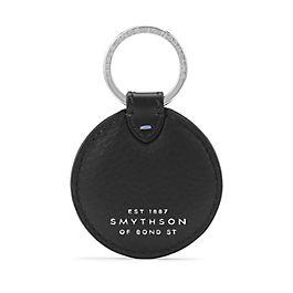 Porte-clés disque en cuir