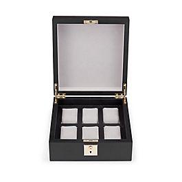 Boîte en cuir pour montres avec verrou