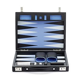 Backgammon Reise-Set aus Leder