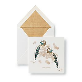 Oriental Peacock Birthday Card