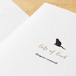 """Katzenkarte """"Good Luck"""""""