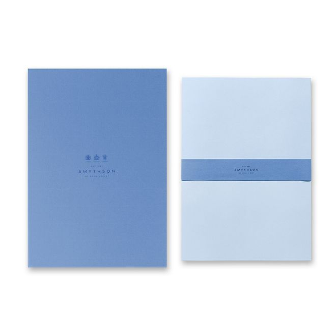 Bond street blue a4 writing paper smythson Blue bond paper