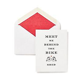 Bike Shed Valentine's Card