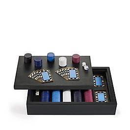 Poker-Set aus Leder