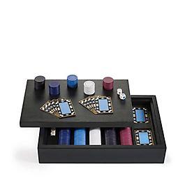 Poker-Set aus Leder