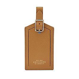 Étiquette à bagage en cuir