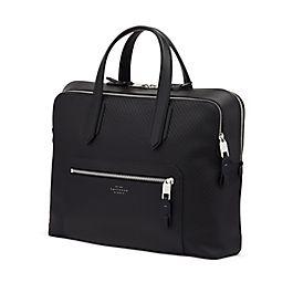 Schmale Handgepäcktasche aus Leder