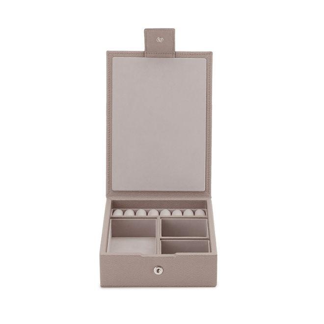 9a6415ec7f25 Grosvenor Travel Tray Jewellery Box in dove grey calf leather