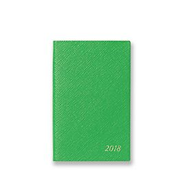 Leather 2018 Panama Diary with Address Book Insert