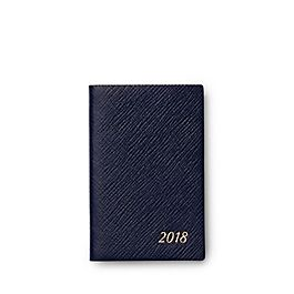 Leather 2018 Wafer Diary with Address Book Insert