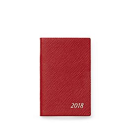 Leather 2018 Wafer Agenda with Address Book Insert