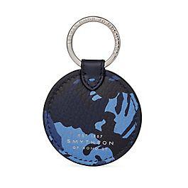 Schlüsselanhänger mit Scheibe aus Leder