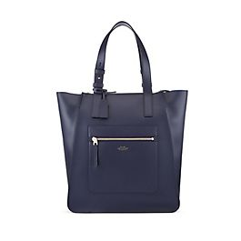 Leather North South Tote