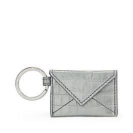 Schlüsselring mit Kuvert aus Leder
