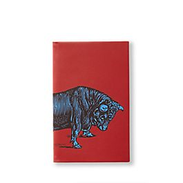 Panama-Notizbuch aus Leder mit Tiermotiv