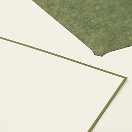 Grußkarten mit farblicher Umrandung