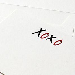 Biglietti di corrispondenza XOXO