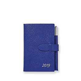 Leather 2019 Wafer Diary with Gilt Pencil