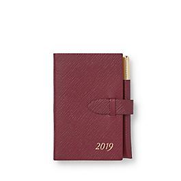 Leather 2019 Wafer Agenda with Gilt Pencil