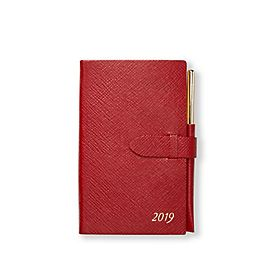 Leather 2019 Panama Diary with Gilt Pencil