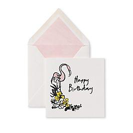 Geburtstagskarte mit Flamingomotiv