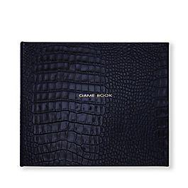 Game Book mit festem Einband aus Leder