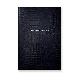 Grand atlas mondiaux en cuir