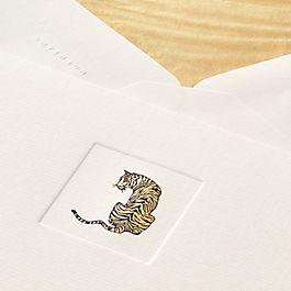 Cartes-lettres Tigre