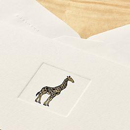 Cartes-lettres Girafe