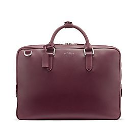 Porte-documents compact en cuir