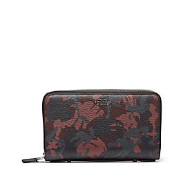 Reisebrieftasche aus Leder mit Doppelreißverschluss