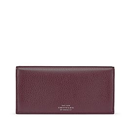 Leather Slim Coat Wallet with Coin Pocket