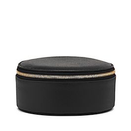 Leather Round Trinket Case