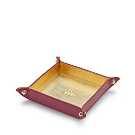 Leather Small Square Trinket Tray