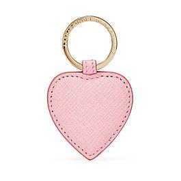 Herzförmiger Schlüsselanhänger aus Leder