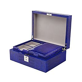 Schmuckbox aus Leder mit Reisefach