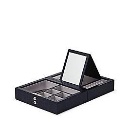 Mini boîte à bijoux de voyage en cuir