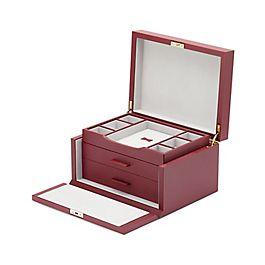 Boîte à bijoux en cuir à 3tiroirs
