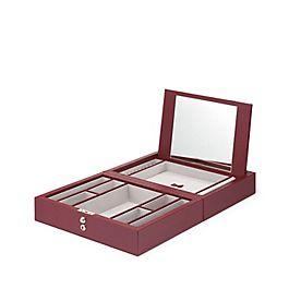 Boîte à bijoux de voyage en cuir