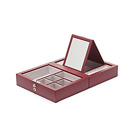 Leather Mini Travel Jewellery Box