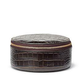 Rundes Schmuckkästchen aus Leder
