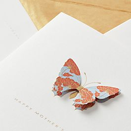 Floral Butterfly Mother's Day Card