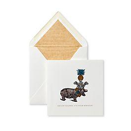 Hip Hip Hooray Hippo Card