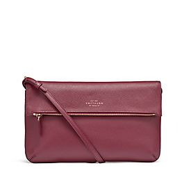 Leather Folded Crossbody Bag